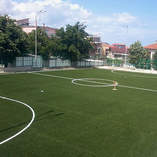 Delivery and installation of artificial grass (turf) for football and tennis